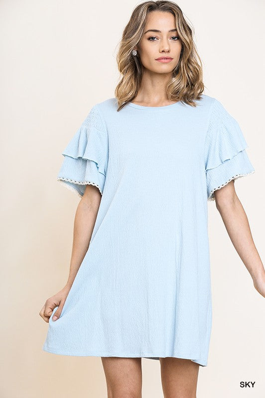 Styled - light blue t-shirt dress