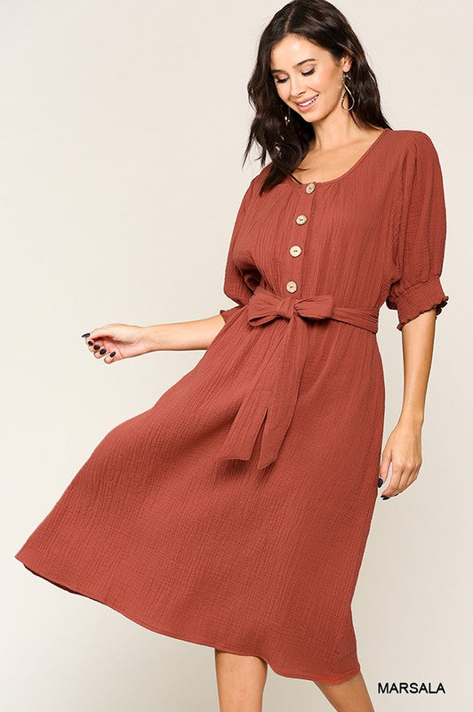 Styled - marsala dress