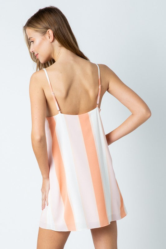 Styled - peach slip dress