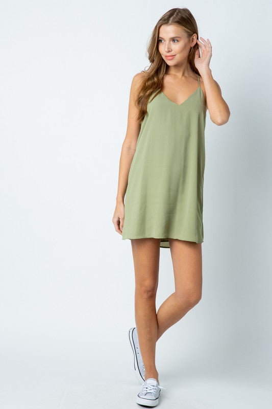Styled - sage slip dress
