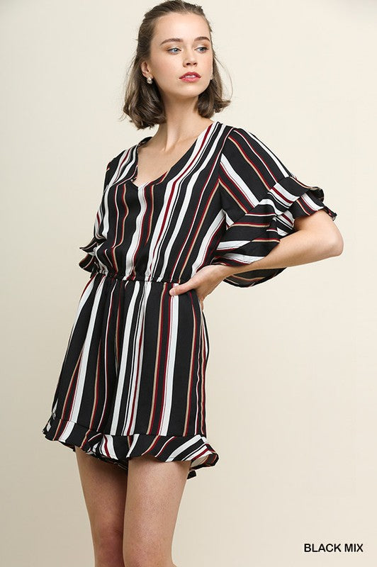 Styled - stripes romper