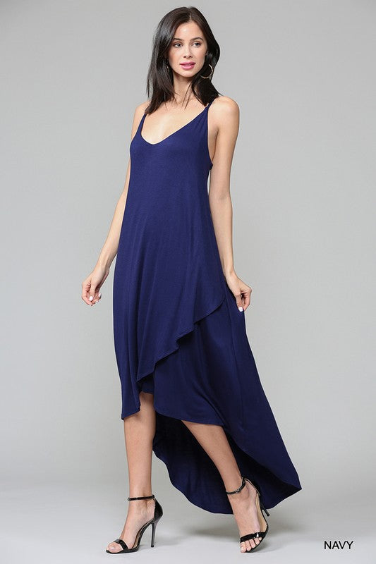 styled market albaenid - navy maxi dress