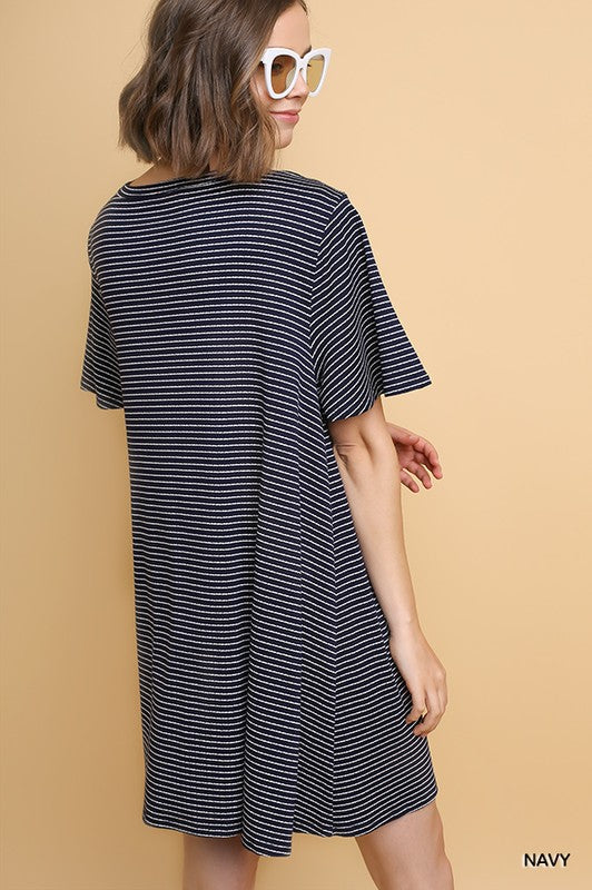Styled - navy t-shirt dress