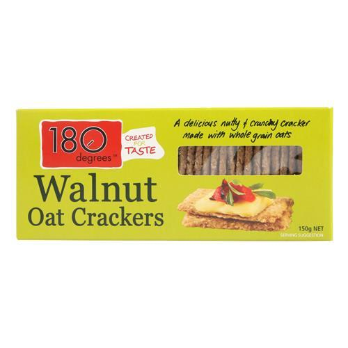 180 Degrees - Walnut Oat Crackers 150g