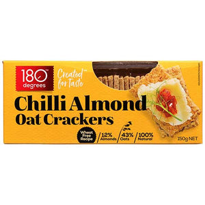 180 Degrees - Chilli Almond Oat Crackers 150g