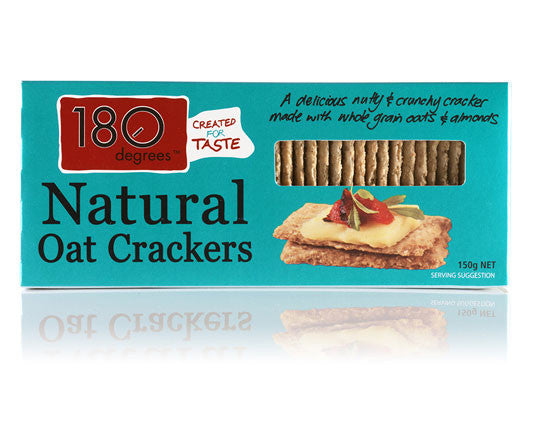 180 Degrees - Natural Oat Crackers 150g