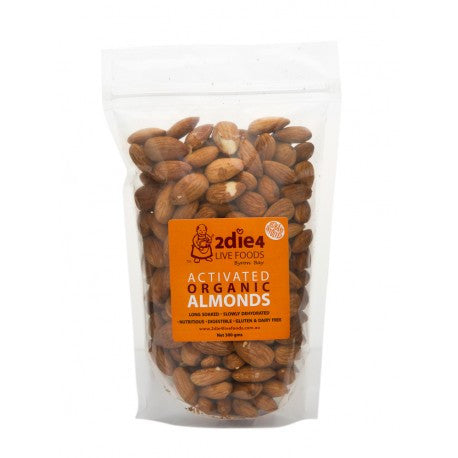 2die4 Live Foods - Activated Organic Almonds 300g