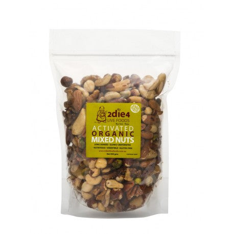 2die4 Live Foods - Activated Organic Mixed Nuts 120g
