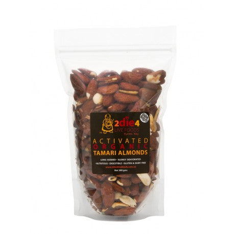 2die4 Live Foods - Activated Organic Tamari Almonds 300g