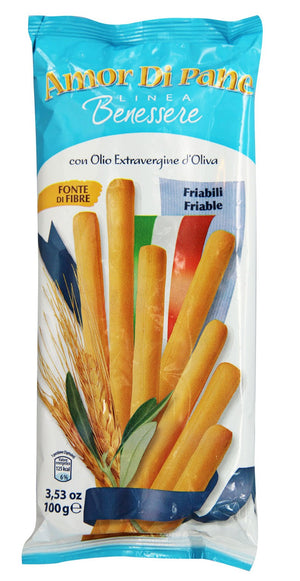 Amor Di Pane - Extra Virgin Olive Oil Breadsticks 125g