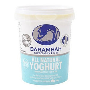 Barambah Organics - All Natural Yoghurt 500g