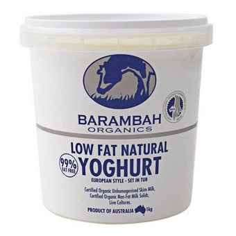 Barambah Organics - Low Fat Natural Yoghurt 1kg