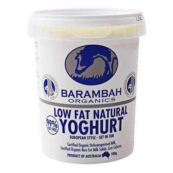 Barambah Organics - Low Fat Natural Yoghurt 500g