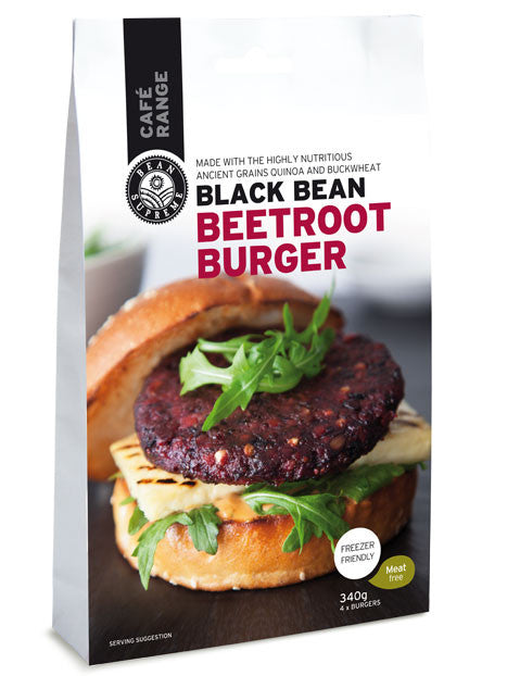 Bean Supreme - Black Bean Beetroot Burgers 340g