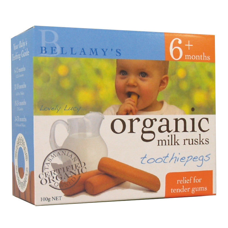 Bellamy's - Organic Milk Rusks - Toothiepegs 100g
