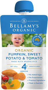 Bellamy's - Organic Pumpkin, Sweet Potato & Tomato 120g