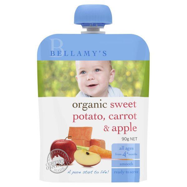 Bellamy's - Organic Sweet Potato, Carrot & Apple 90g