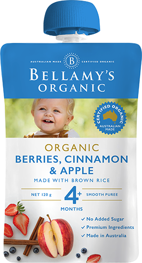 Bellamy's - Organic Berries, Cinnamon & Apple 120g
