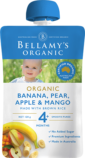 Bellamy's - Organic Banana, Pear, Apple & Mango 120g