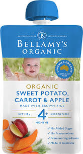 Bellamy's - Organic Sweet Potato, Carrot & Apple 120g