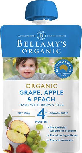 Bellamy's - Organic Grape, Apple & Peach 120g