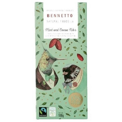 Bennetto MInt & Cocoa Nibs 100g