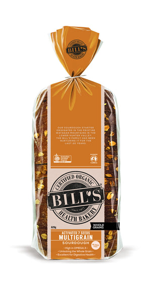 Bills Organic Bread - Multigrain Sourdough 620g