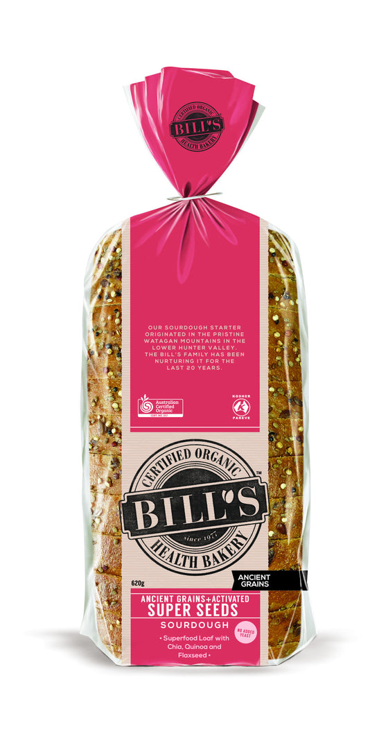 Bills Organic Bread - Ancient Grains + Activated Super Seeds Sourdough 620g