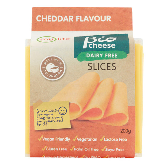 Bio Cheese Dairy Free Cheddar Flavour Slices 200g
