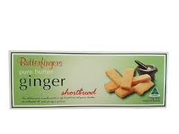 Butterfingers - Pure Butter Ginger Shortbread 175g