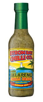 Bryon Bay - Green Jalapeno Chilli Sauce with Coriander (Medium Hot) 250ml