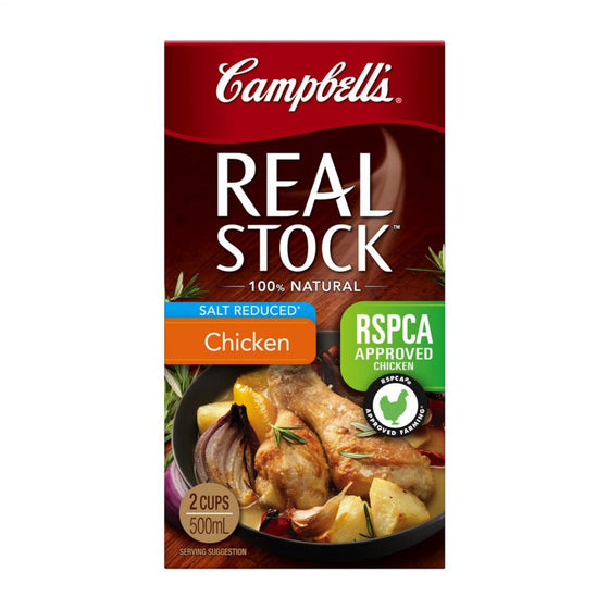Campbells - Real Chicken Stock Salt Reduced 1Lt
