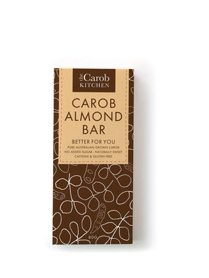 The Carob Kitchen - Carob Almond Bar 80g