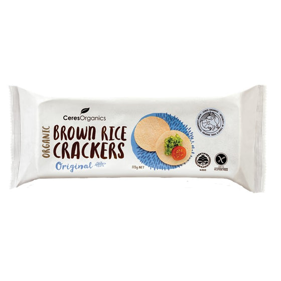Ceres Organics - Brown Rice Crackers - Original 115g