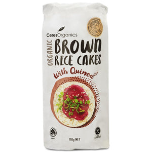 Ceres Organics - Brown Rice Cakes - Quinoa 110g