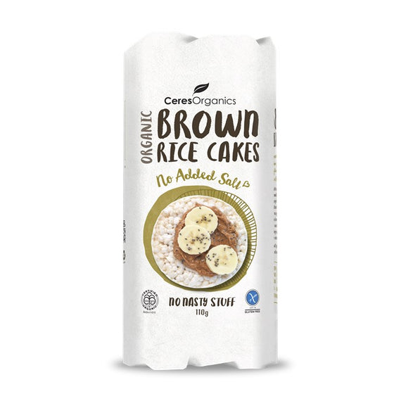 Ceres Organics - Brown Rice Cakes - No Added Salt 110g
