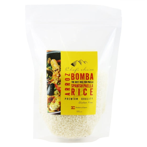 Chefs Choice - Arroz Bomba Spanish Paella Rice 500g