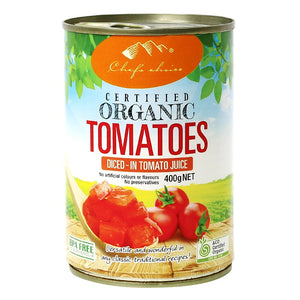 Chefs Choice Organic Diced Tomatoes 400g