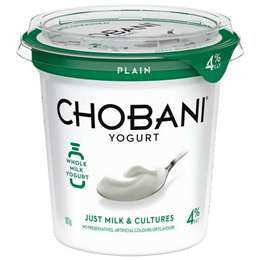 Chobani - Greek Yoghurt - Plain Low Fat 907g