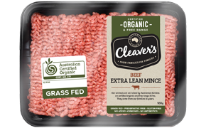 Cleavers Organic - Extra Lean Beef Mince (100-200g)