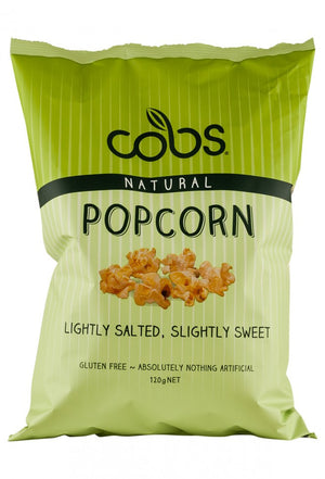 Cobs - Organic Popcorn Lightly Salted Slightly Sweet 120g