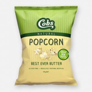 Cobs - Natural Popcorn Best Ever Butter 100g