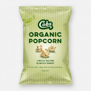 Cobs - Organic Popcorn Slightly Salted, Slightly Sweet 125g