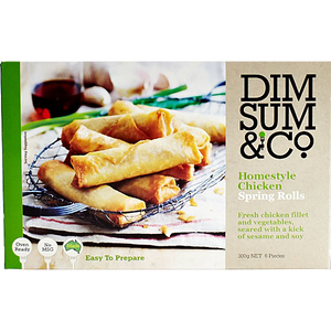 Dim Sum & Co - Homestyle Chicken Spring Rolls 300g