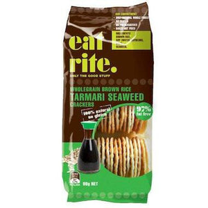 eat rite - Brown Rice Crackers with Tamari & Seeweed 100g