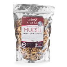 Eclipse Organics - Toasted Maple, Apple & Cranberry Muesli 500g