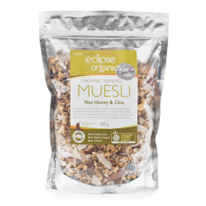 Eclipse Organics - Toasted Nut Honey & Chia Muesli 500g