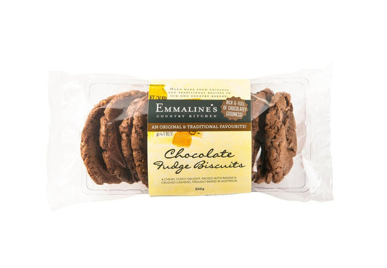 Emmaline's - Chocolate Fudge Biscuits 350g