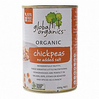 Global Organics - Chickpeas No Added Salt 400g