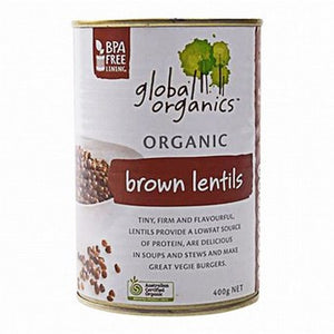 Global Organics - Brown Lentils 400g